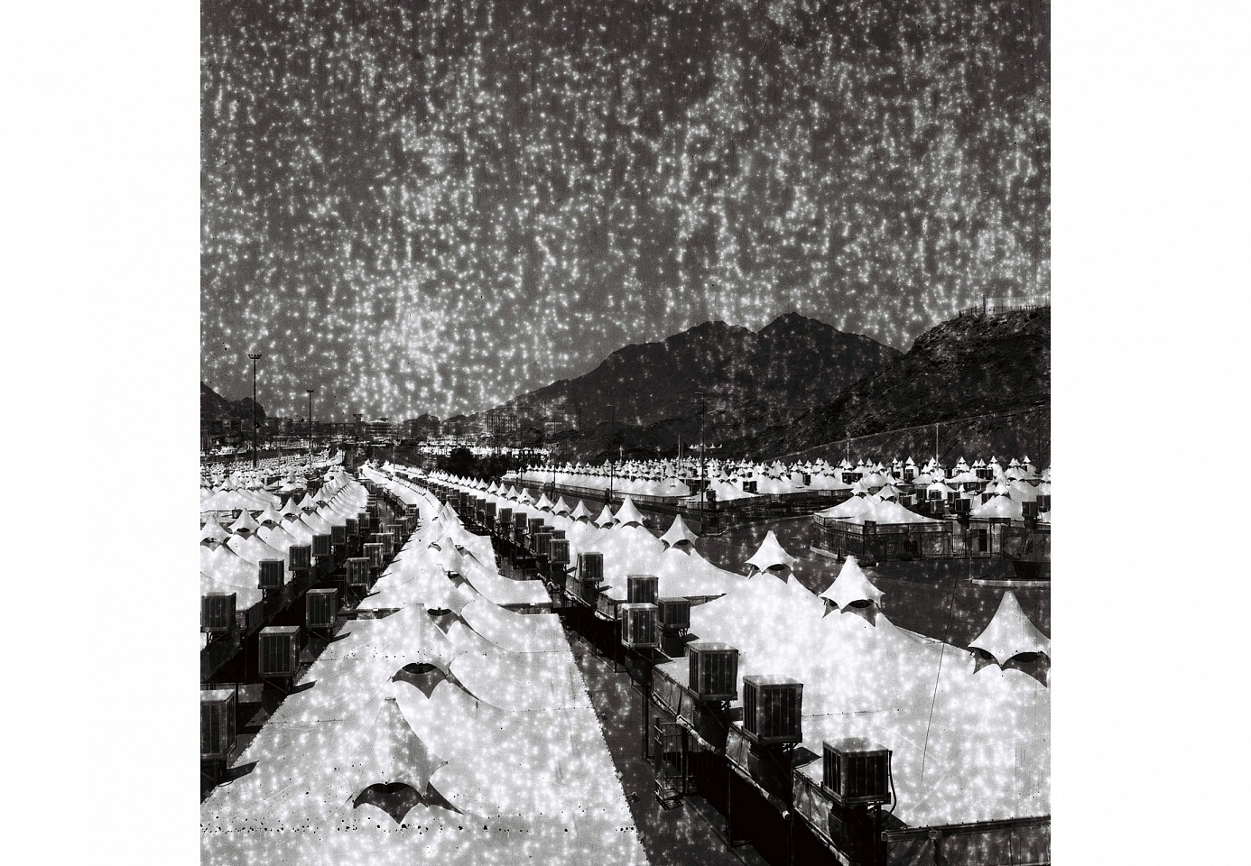 "<p><span class=""viewer-caption-artist"">Ziad Antar</span></p> <p><span class=""viewer-caption-title""><i>Hajj Tents</i></span>, <span class=""viewer-caption-year"">2012</span></p> <p><span class=""viewer-caption-media"">Silver print mounted on dibond</span></p> <p><span class=""viewer-caption-dimensions"">120 x 120 cm (47 3/16 x 47 3/16 in.)</span></p> <p><span class=""viewer-caption-description"">Edition of 5; From Liminal Resolutions</span></p> <p><span class=""viewer-caption-inventory"">ZIA0057</span></p> <p><span class=""viewer-caption-aux""></span></p>"